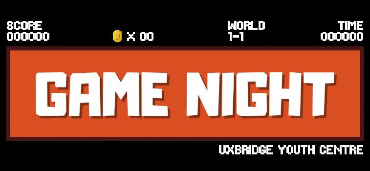 GameNightOnline - Transparent Logo - with game text+time